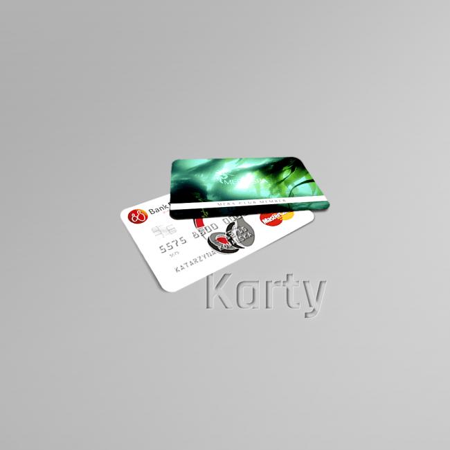karty kredytowe i lojalnościowe